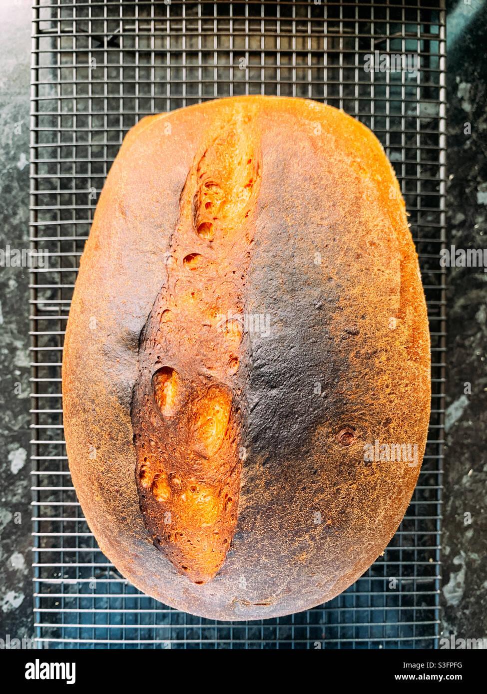 Pane bianco cotto in casa Foto Stock