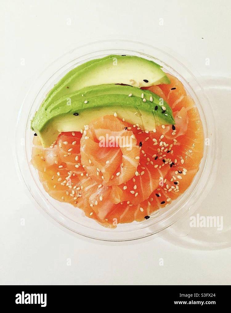 Chirashi de saumon Foto Stock