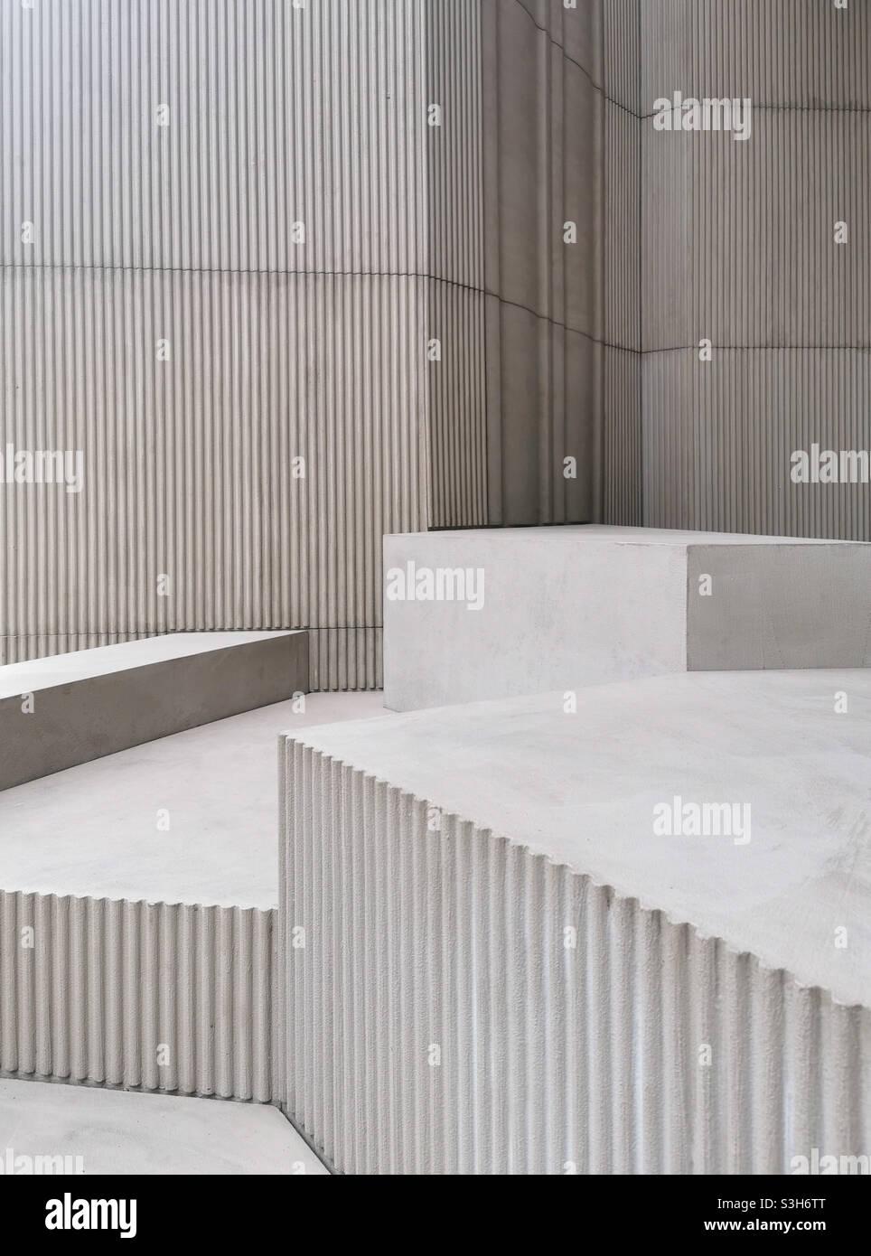 Galleria serpentina Padiglione 2021 progettato da Sumayya Vally di Counterspace Foto Stock