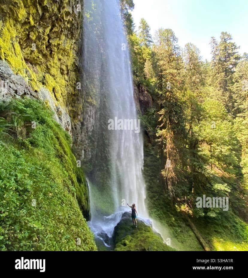 Cascata magic Foto Stock