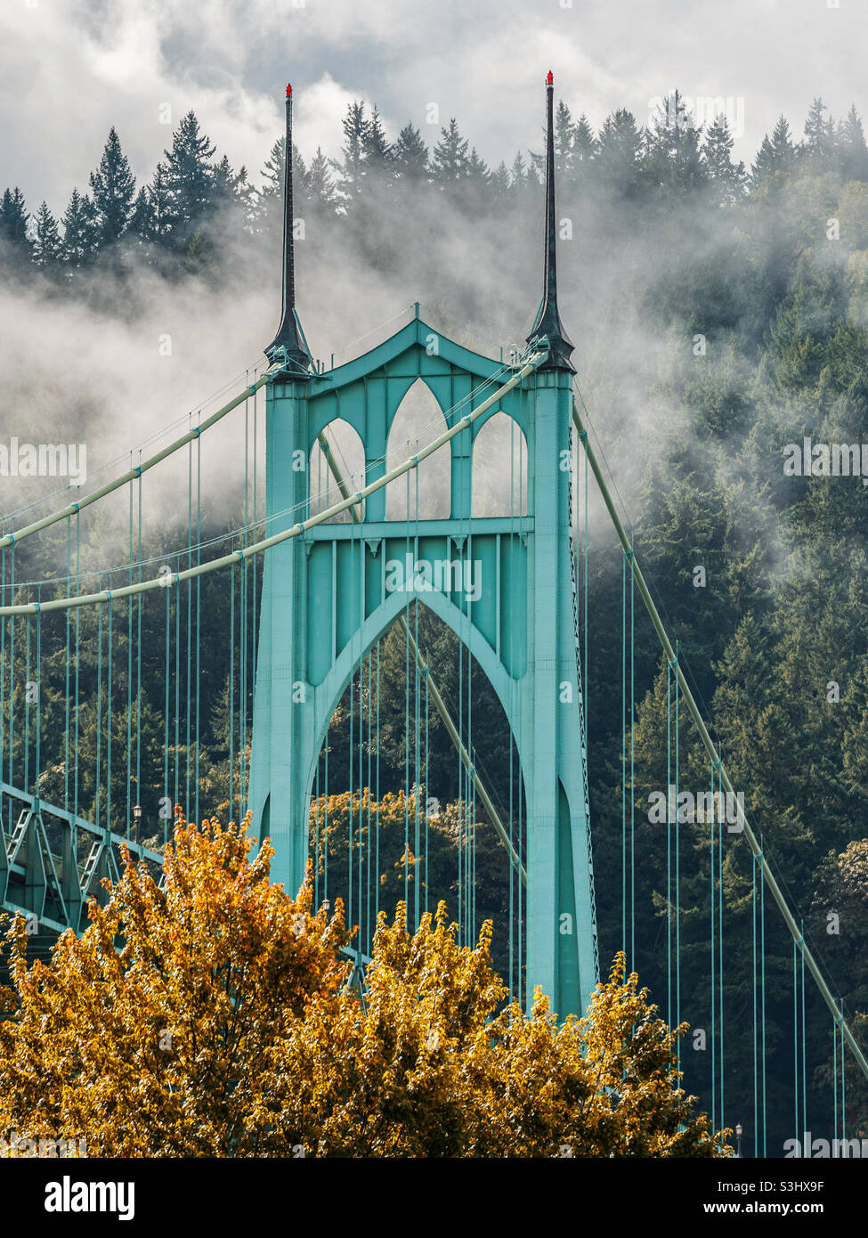 Autunno a Portland, Oregon Foto Stock
