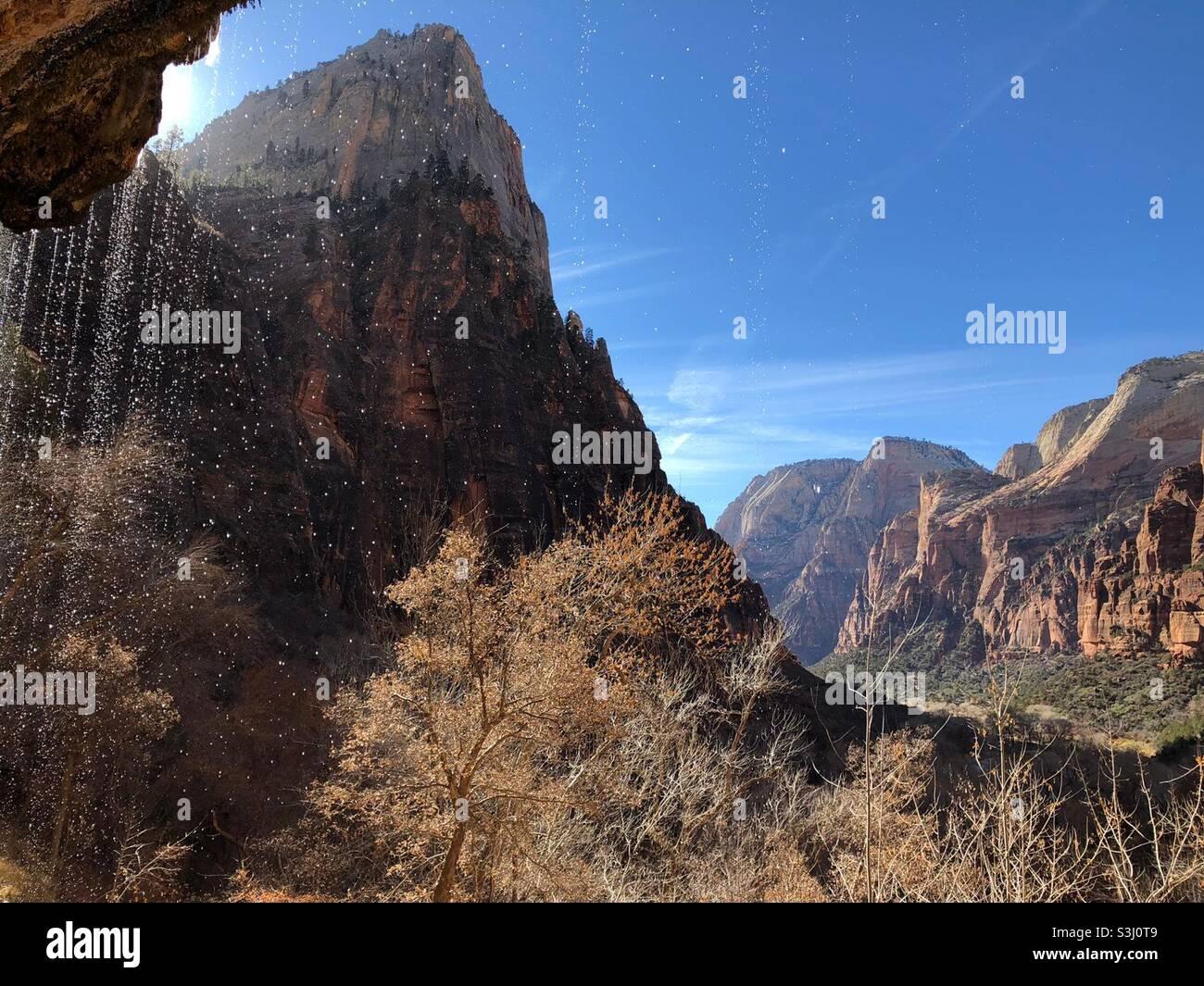Parco Nazionale di Zion Foto Stock