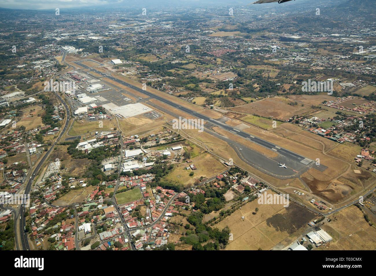 Costa Rica aeroporto di San Jose. Immagini Stock