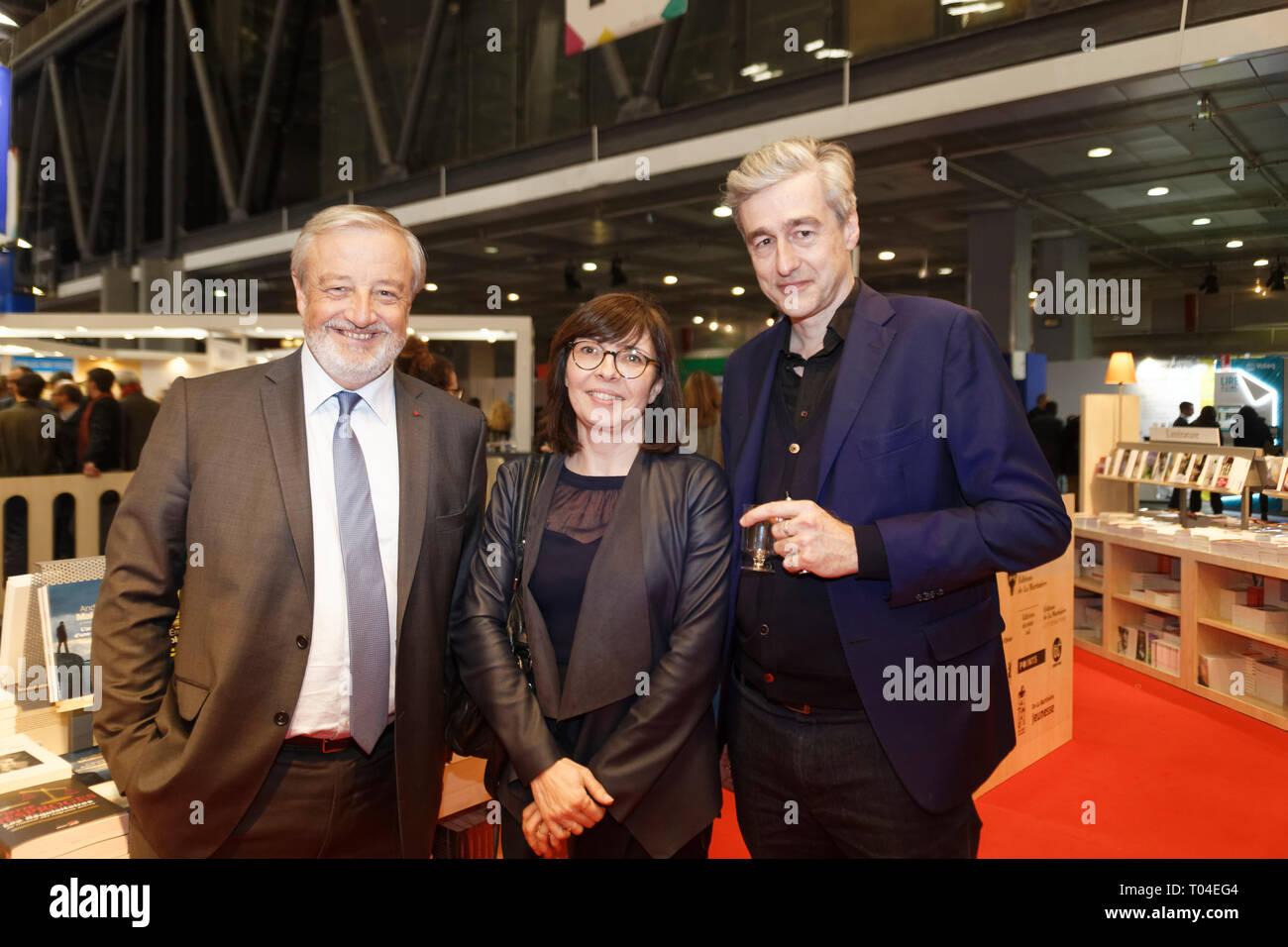 Parigi, 14 Marzo, 2019. Vincent Montagne e gli ospiti possono partecipare all inaugurazione del libro di Parigi. Credit:Veronique Phitoussi/Alamy Stock Foto Immagini Stock