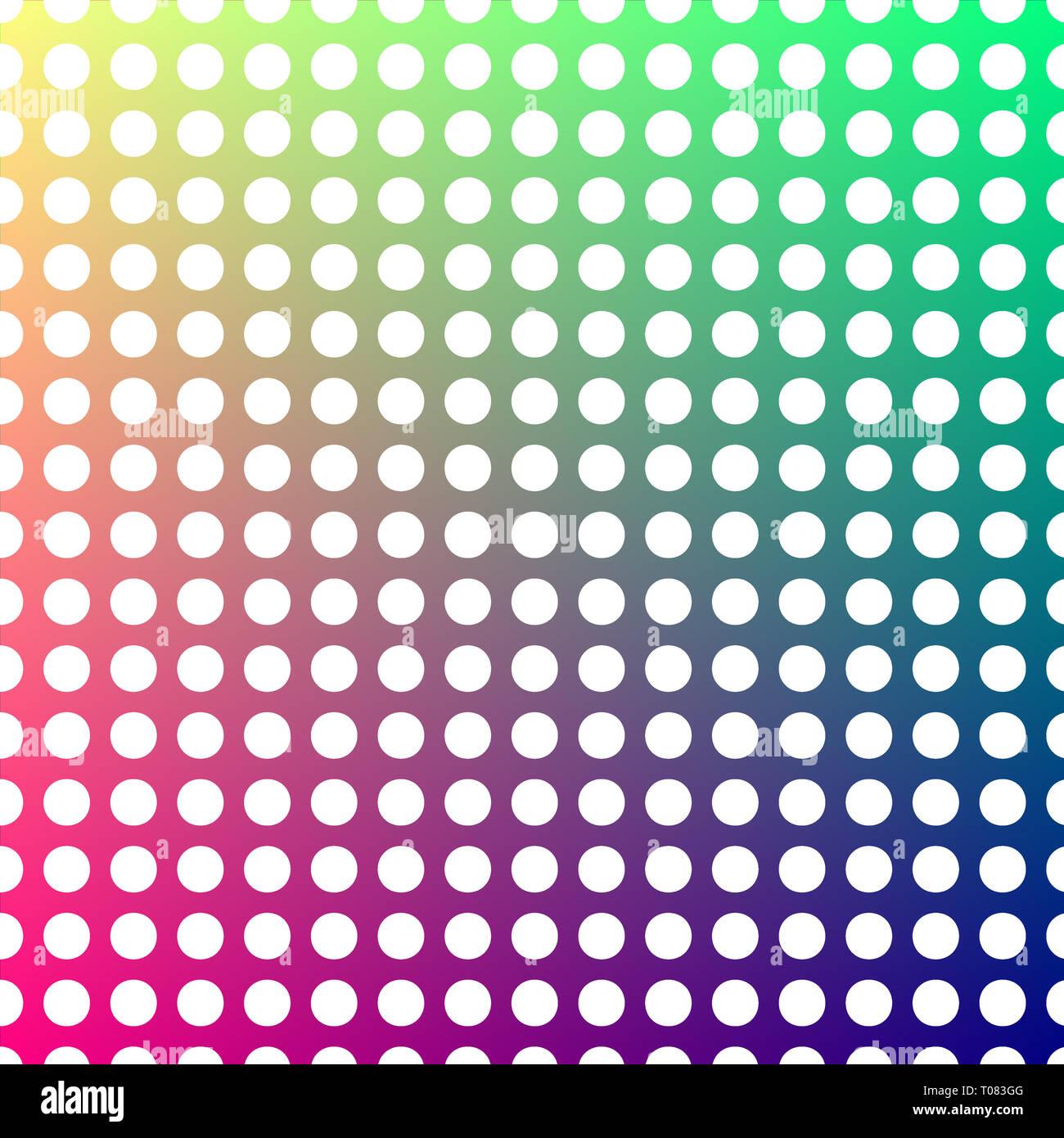 Le linee di punti di colore bianco su uno sfondo che cambia da verde a rosso. Immagini Stock