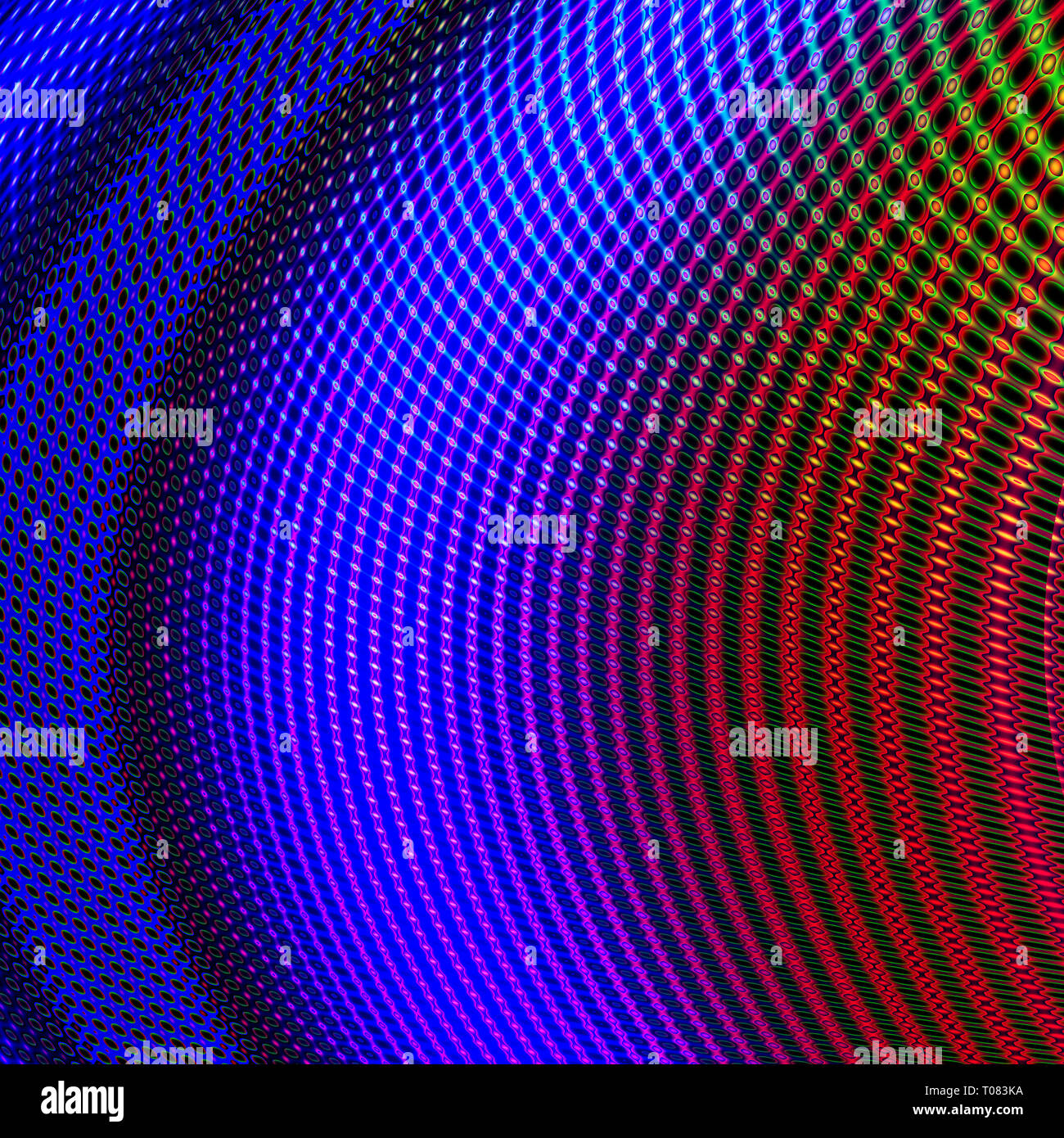 Linee curve con diversi colori incrocio formando una vista perspectivic, decorativo ed estetico. Le curve sono luminose ed eleganti Immagini Stock