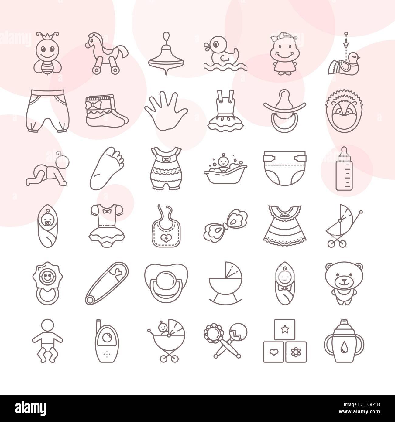 giocattoli per bambini stilizzati