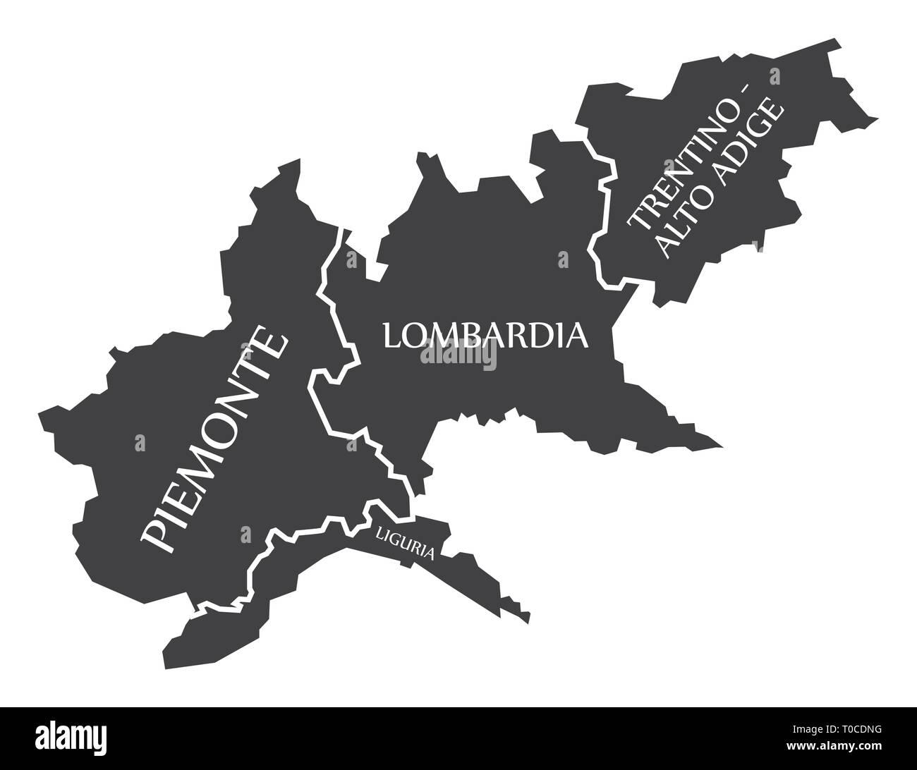 Cartina Lombardia E Piemonte.Piemonte Vector Immagini E Fotos Stock Alamy