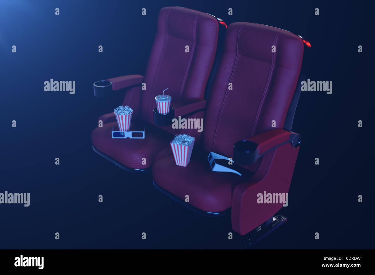 consegna gratuita vero affare liquidazione a caldo Cinema di visione di film. Composizione con gli occhiali 3d ...