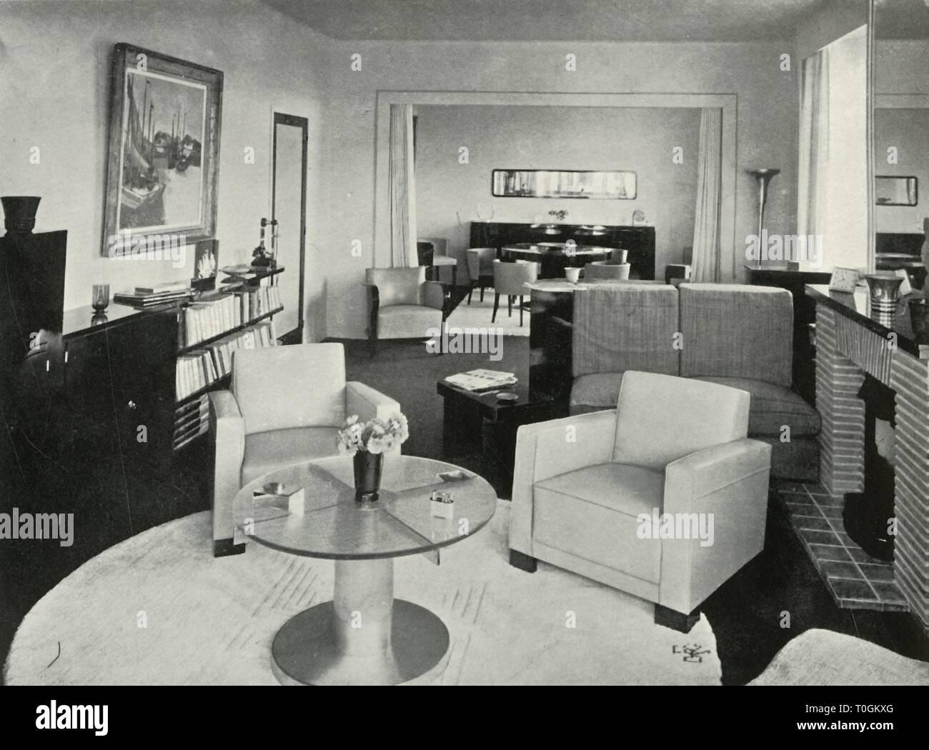 Studio E Sala Da Pranzo Nella Casa A Bruxelles 1937 Creatore Sconosciuto Foto Stock Alamy