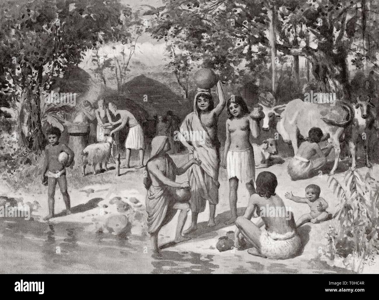 Indo Ariana insediamento nell antica India Immagini Stock