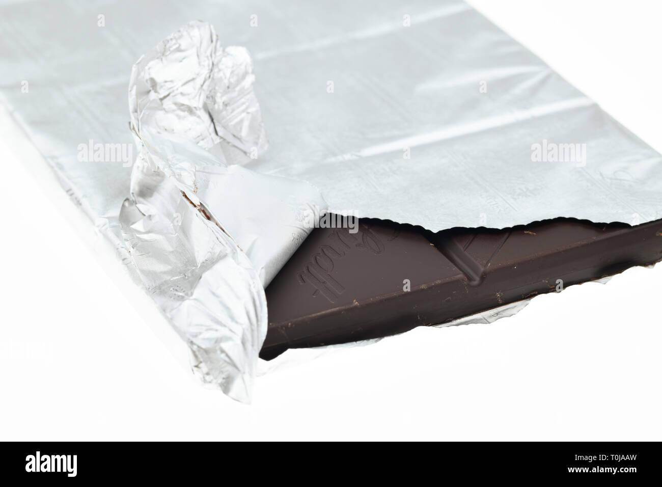 Scheda cioccolato Lindt, studio di ammissione, Tafel Lindt-Schokolade, Studioaufnahme Immagini Stock