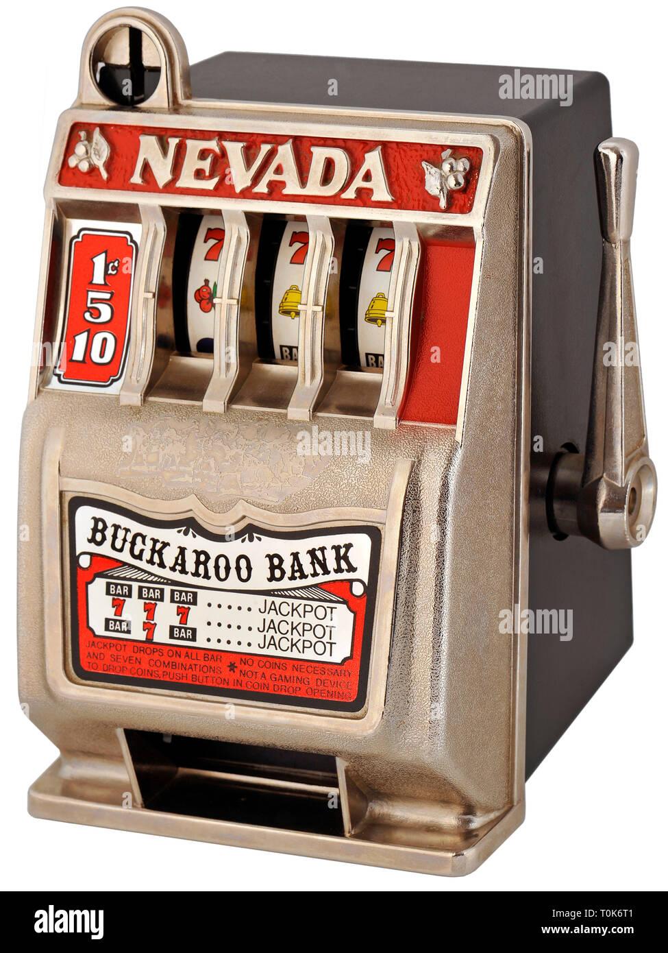 Giochi, macchina da gioco, uno-armati bandit, slot machines, Hongkong, circa 1985, Additional-Rights-Clearance-Info-Not-Available Immagini Stock
