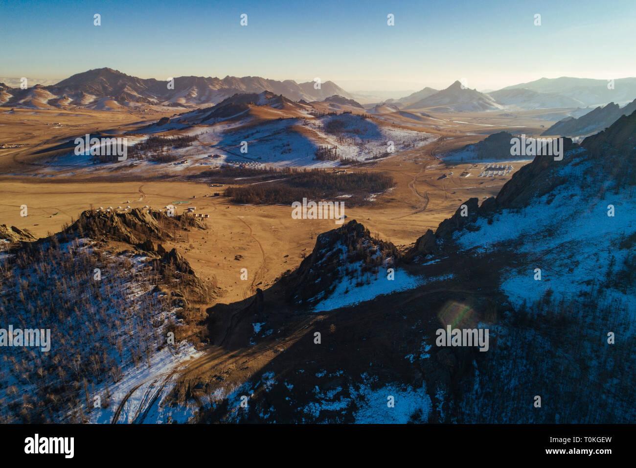 La Svizzera mongola, Gorkhi-Terelj Parco Nazionale, Mongolia Foto Stock