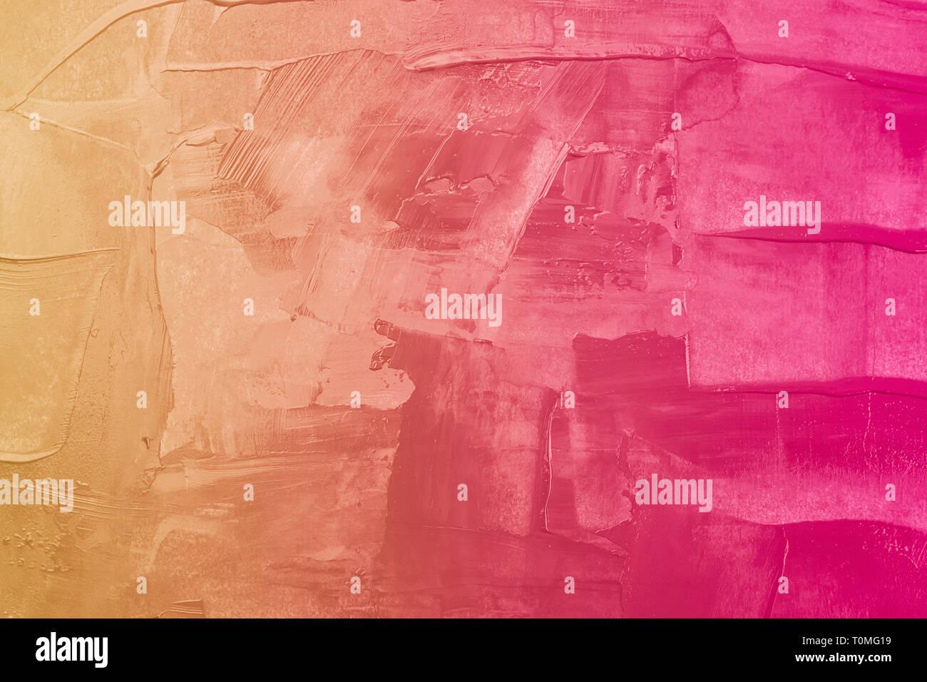 Abstract Bicromatica Sfondo Acrilico Giallo E Sfumature Di Rosa