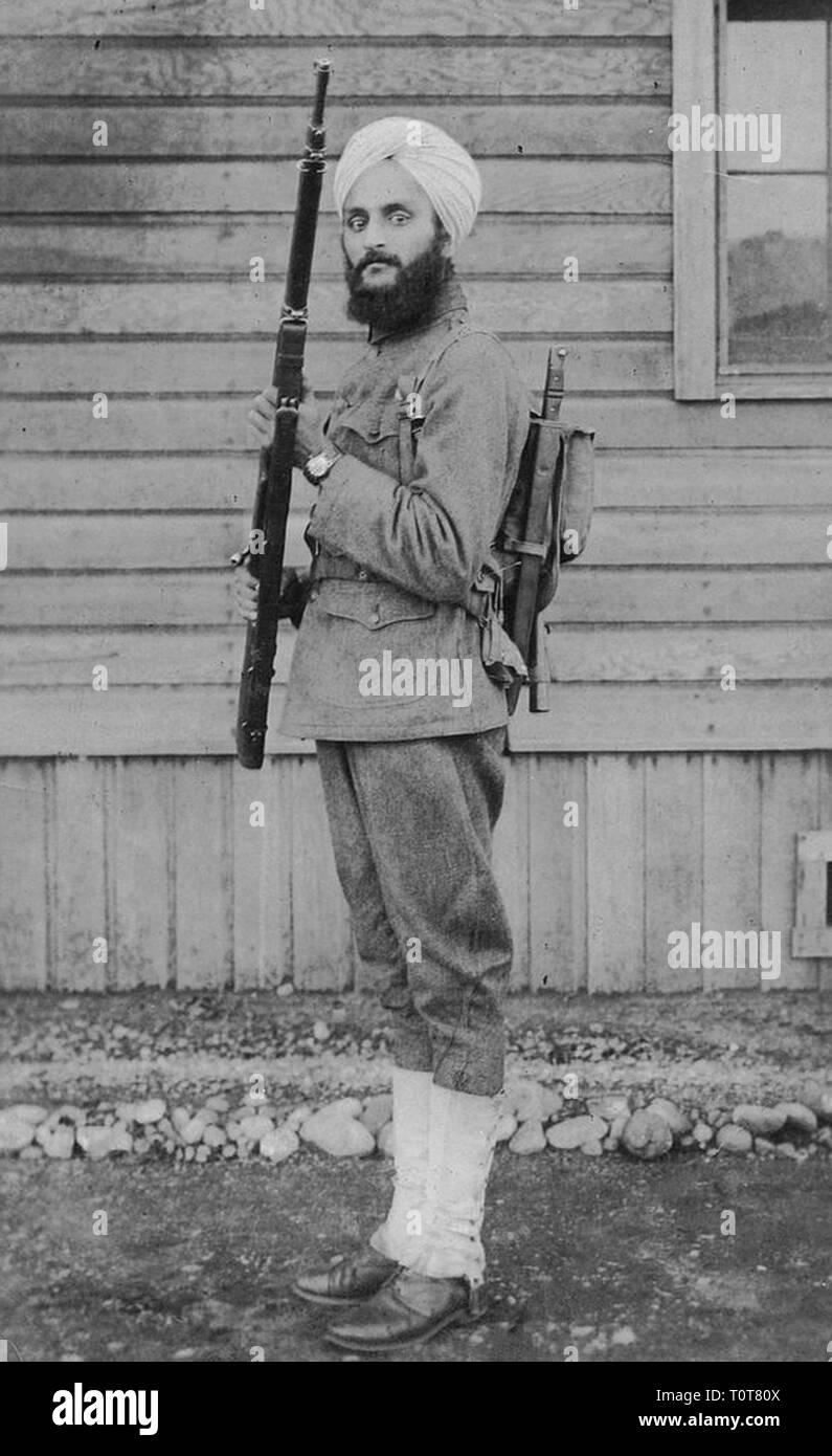 Bhagat Singh Thind (1892 - 1967) Sikh scrittore americano, scienziato e docente Immagini Stock