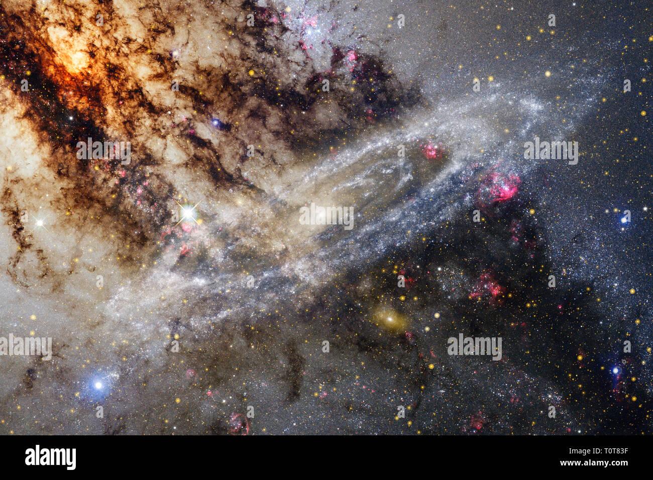 Nebulose una nube interstellare di polvere di stelle. Gli elementi di questa immagine fornita dalla NASA Immagini Stock