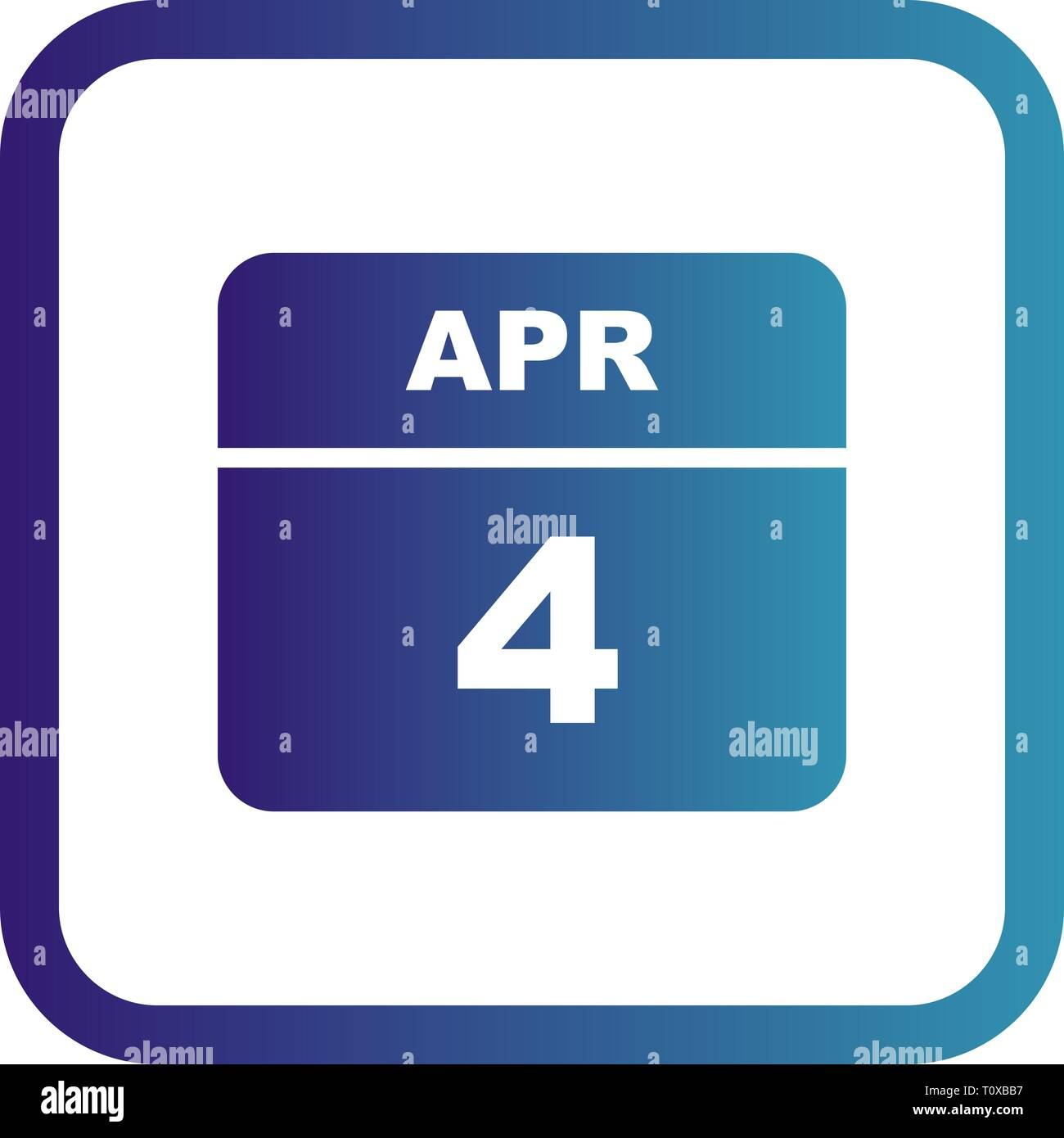 Calendario Giorno.4 Aprile Data In Un Unico Giorno Calendario Foto Immagine