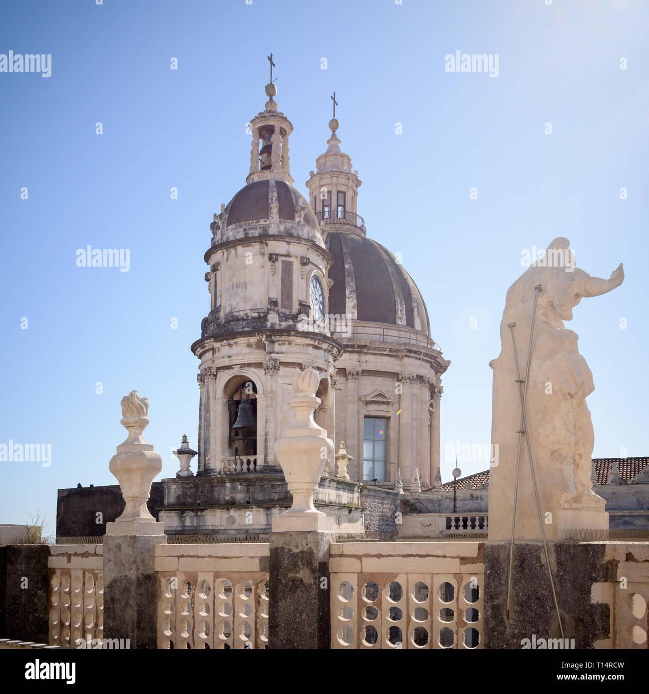 Catania La Cattedrale Di Sant Agata Nel Centro Della