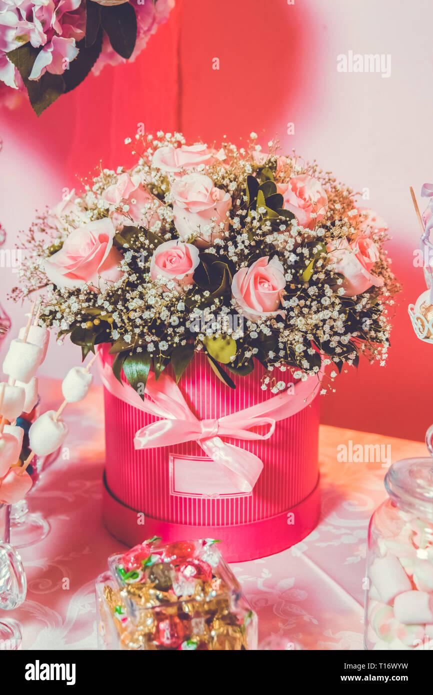 Regali Bouquet di fiori di sapone in scatola Set di saponi
