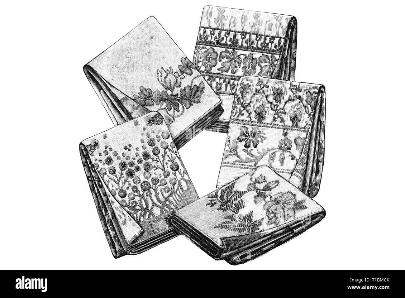 Lenzuola - Illustrazione Vintage 1905 Immagini Stock