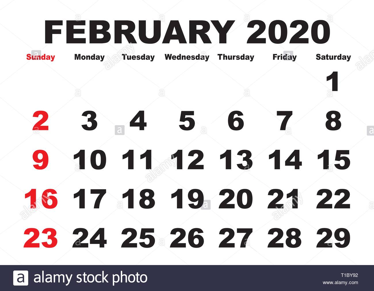 Febbraio Calendario 2020.2020 Calendario Mese Di Febbraio Vettore Calendario