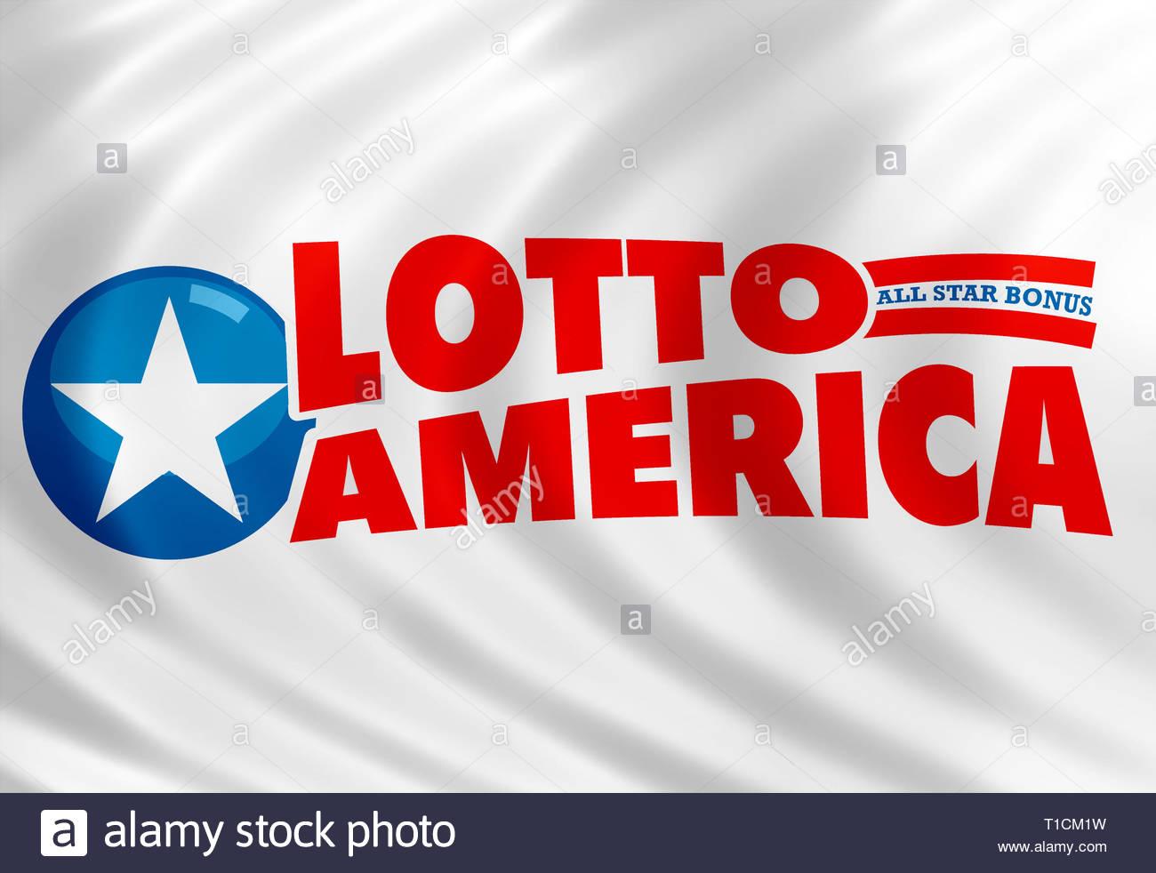 Lotto America segno del logo Immagini Stock