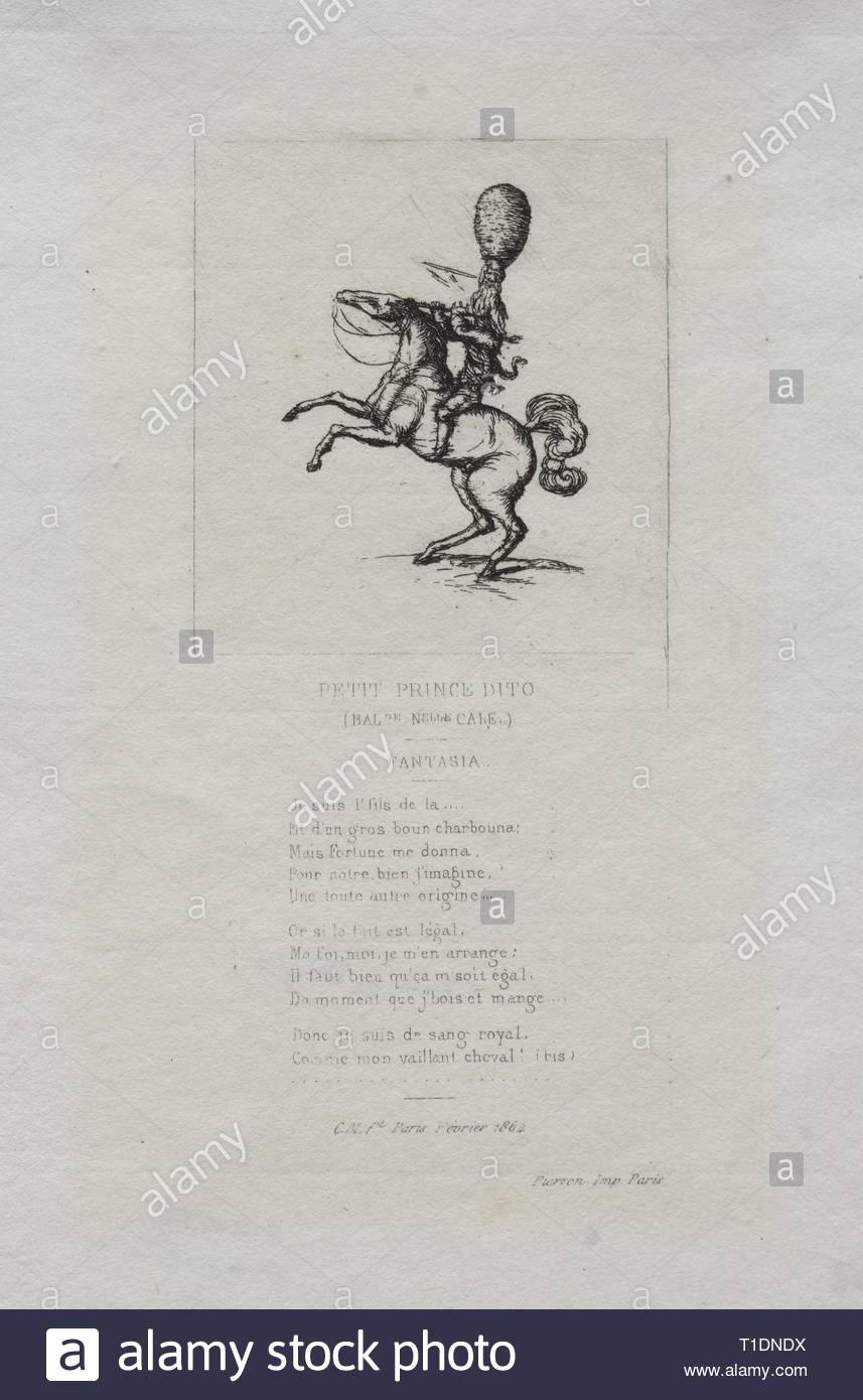 Piccolo Principe dito, 1864. Charles Meryon (Francese, 1821-1868). Attacco chimico. Immagini Stock