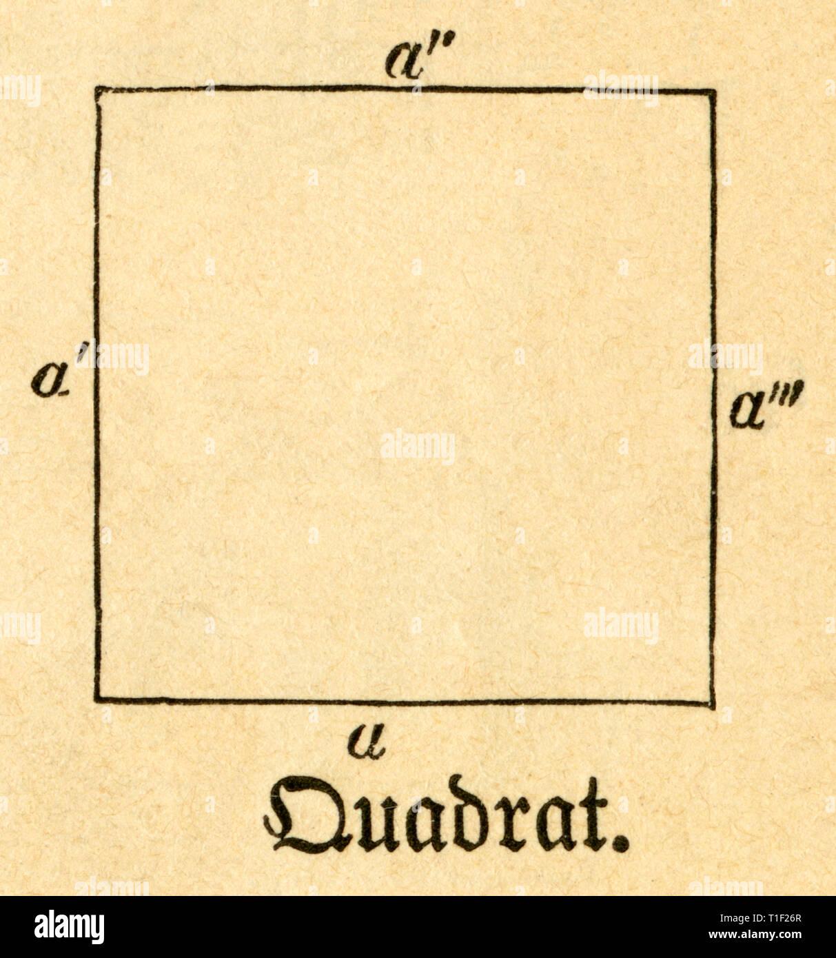 Square, illustrazione da: 'Die Welt in Bildern ' (immagini del mondo), pubblicato dal dottor Chr. G. Hottinger, Berlino / Strasburgo, 1881., Additional-Rights-Clearance-Info-Not-Available Immagini Stock