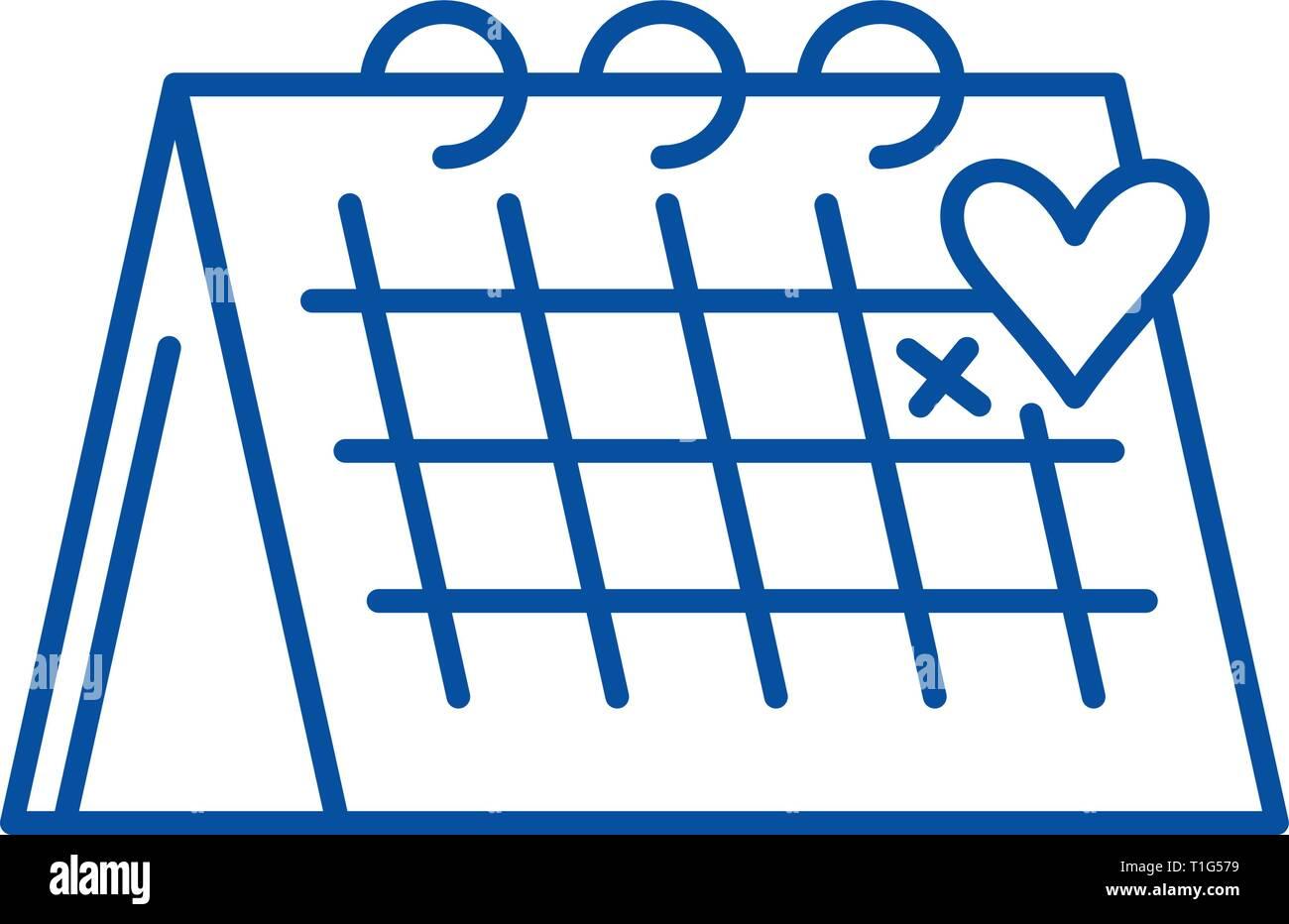 Calendario Icona.Calendario Icona Linea Concept Calendario Piatto Simbolo