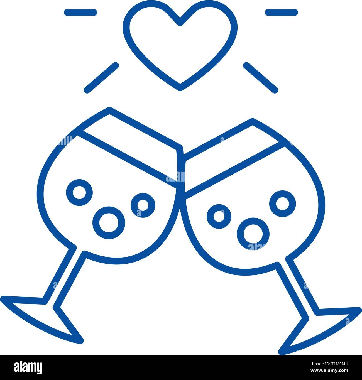Anniversario Di Matrimonio Simboli.Anniversario Di Matrimonio Icona Linea Concept Anniversario