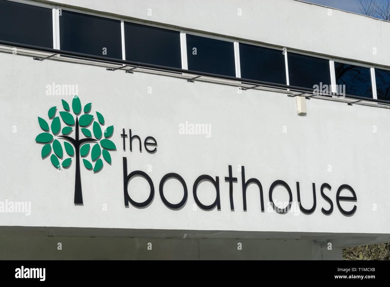 Il Boathouse venue Danson Park Bexleyheath Immagini Stock