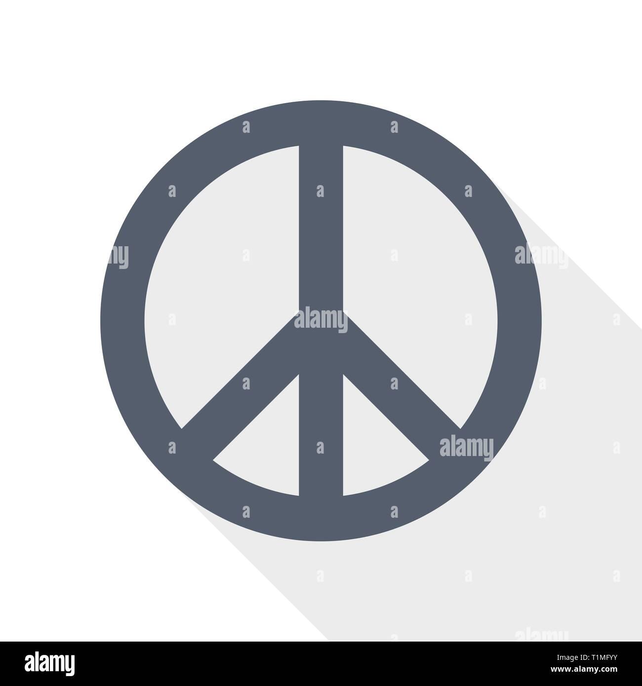 La pace non la guerra icona, illustrazione vettoriale, concetto pacifista segno Immagini Stock