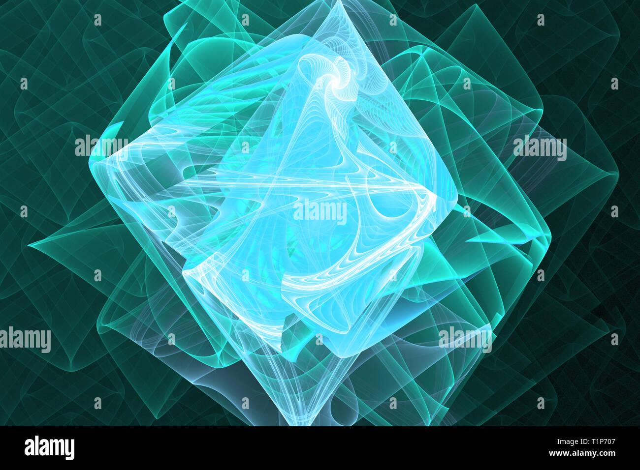 Il frattale geometriche forme naturali patterns caleidoscope sfondo magico Immagini Stock