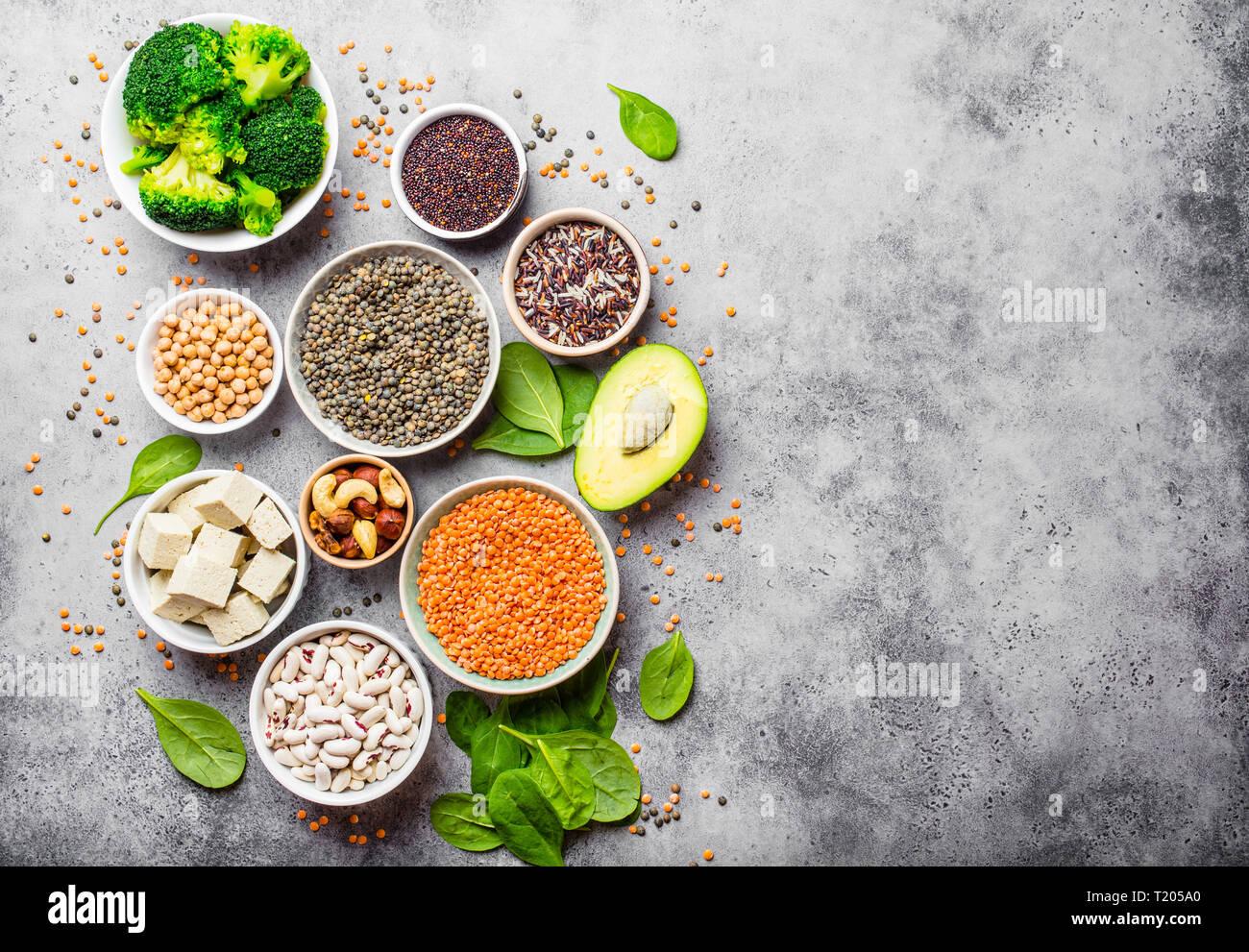 Vegan sana nutrizione Immagini Stock