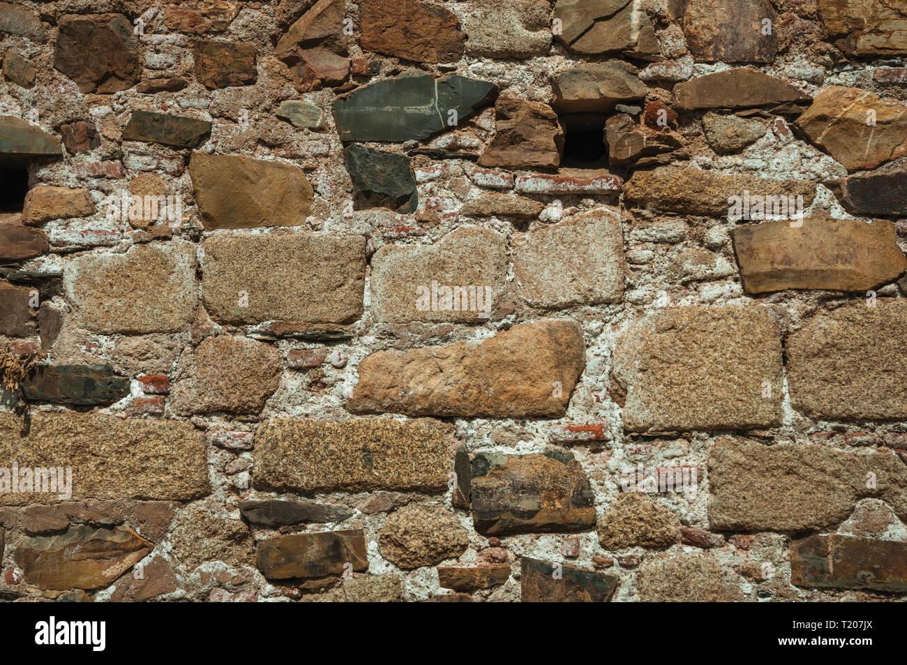 Muro Fatto In Pietra muro fatto di pietre grezze formando una singolare