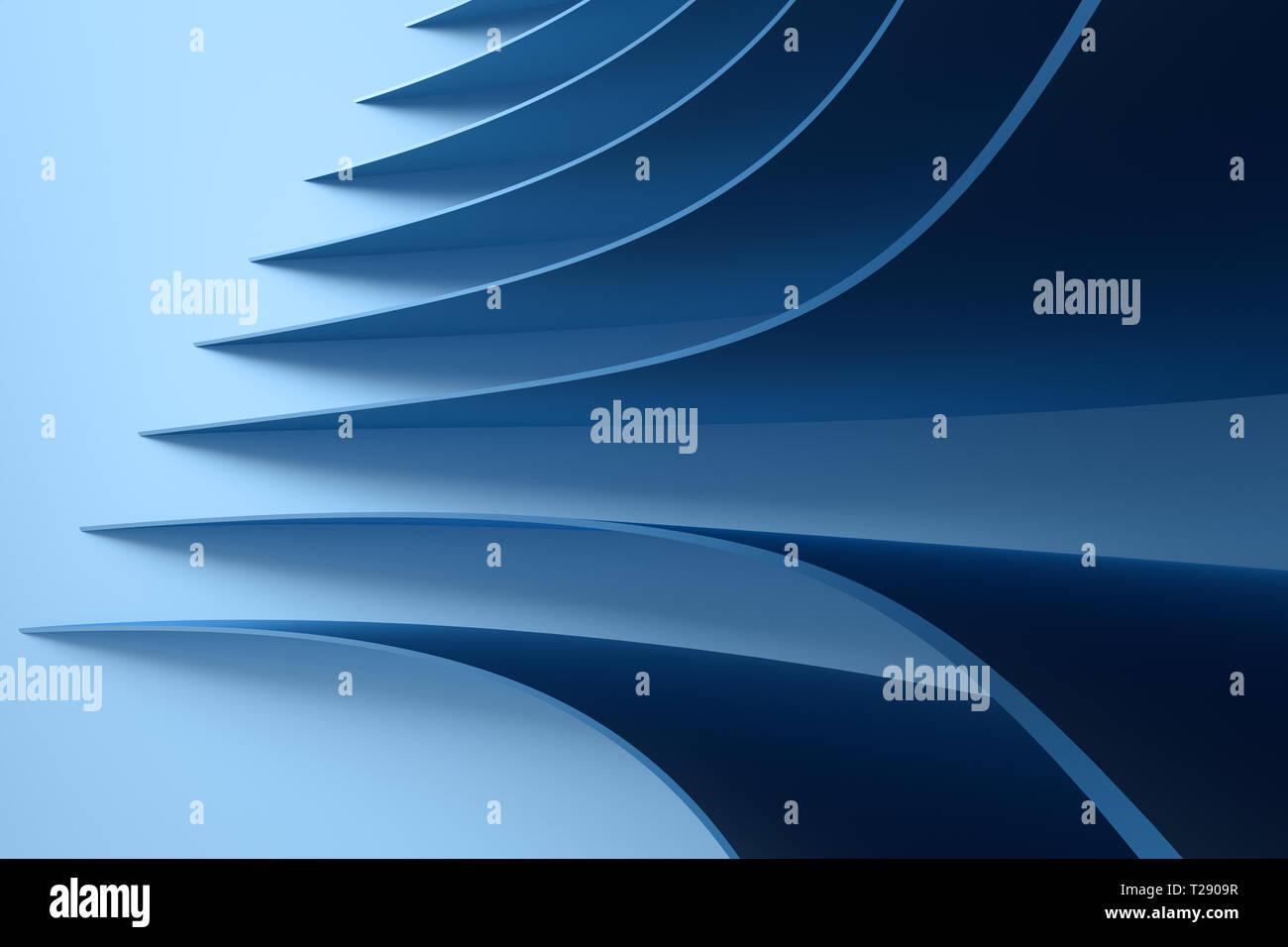 3d Rendering Blu Metallizzato Di Superficie E La Progettazione