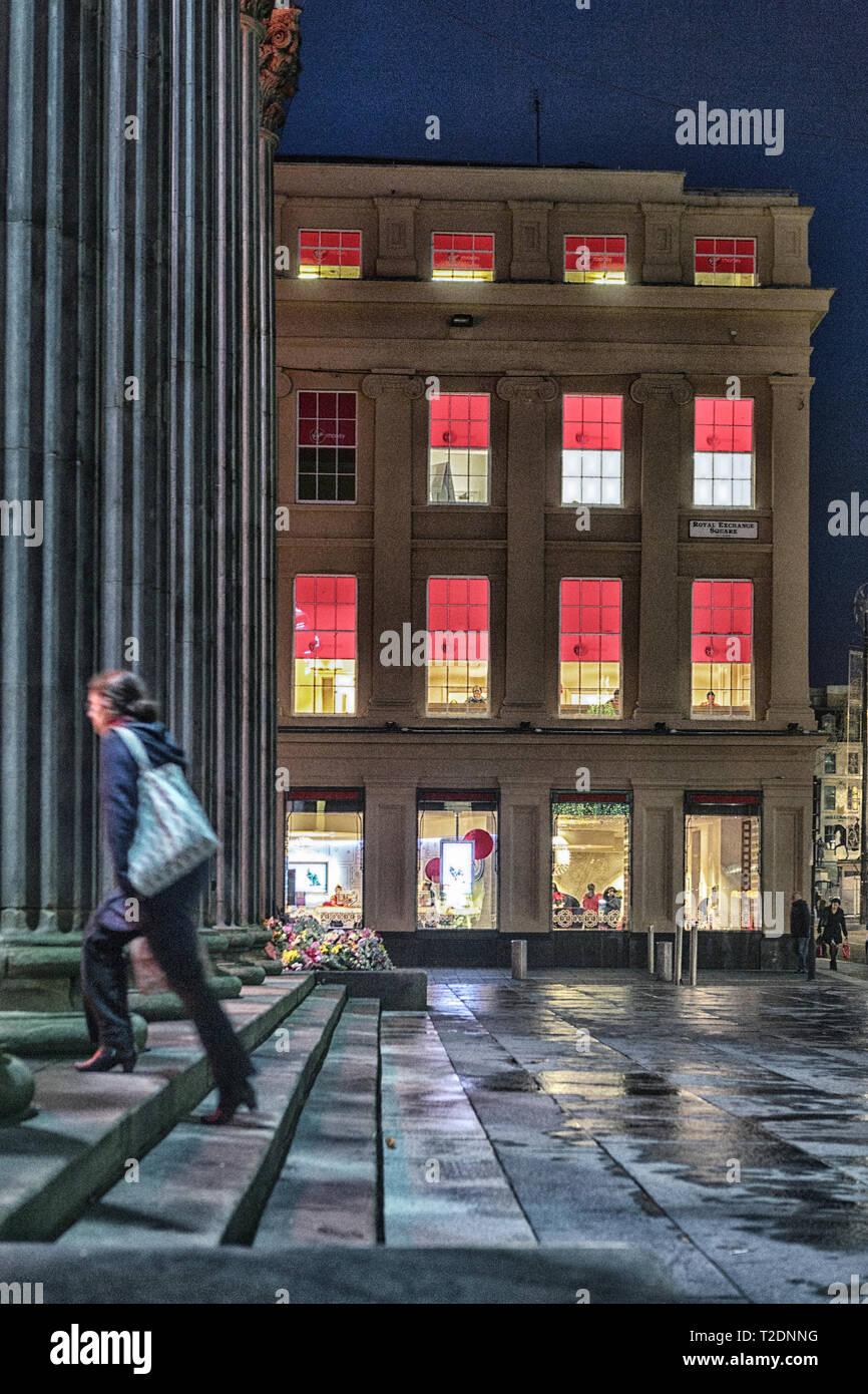 7 gennaio 2016 a Glasgow, Scozia Immagini Stock