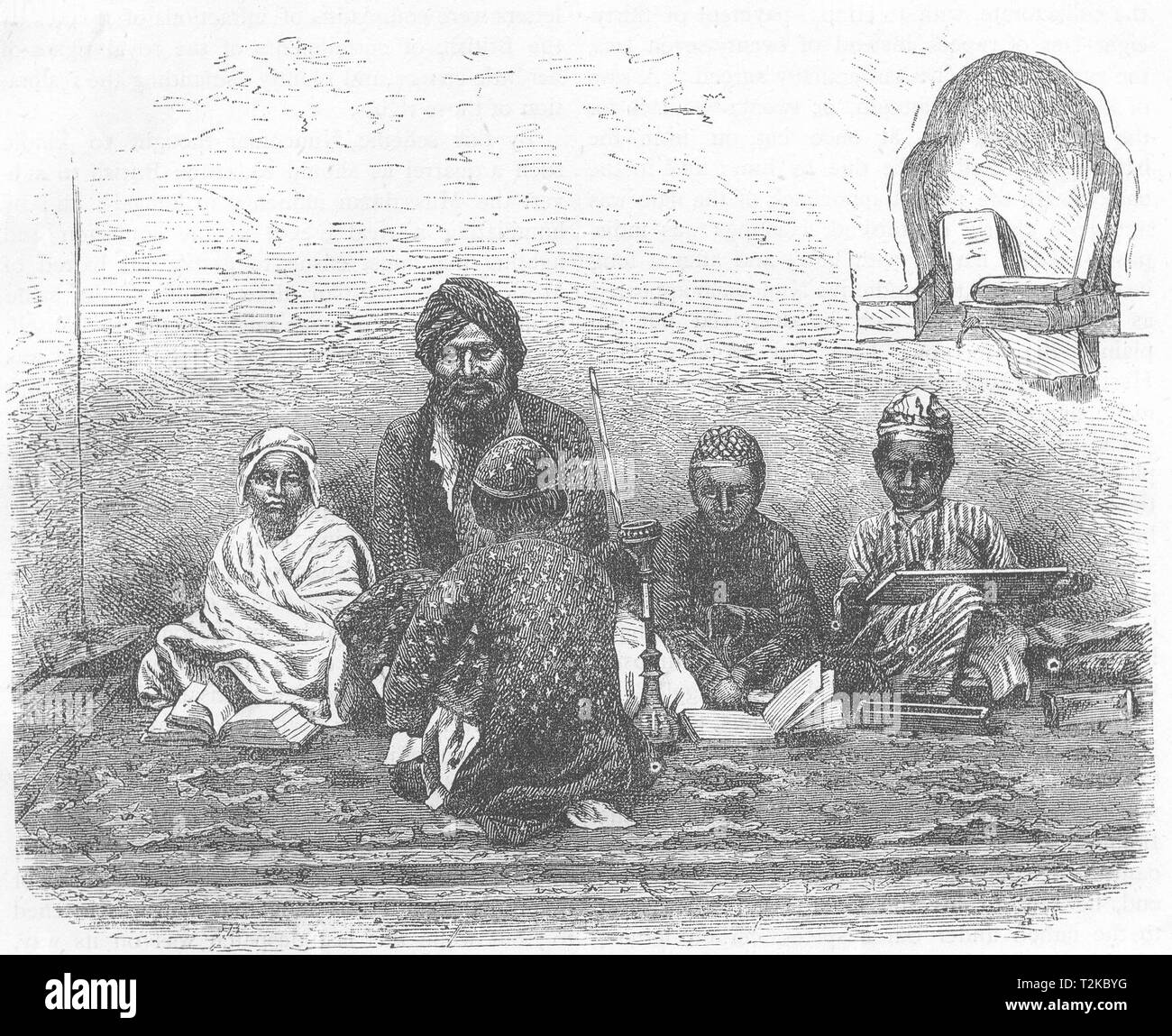 INDIA. Scuola Mussulman Allahabad c1880 antica vintage delle immagini di stampa Immagini Stock
