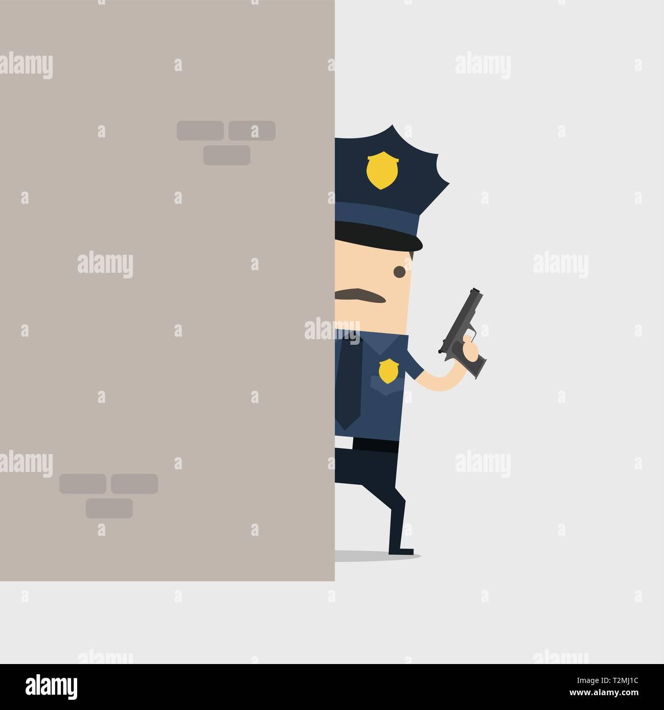 incontro umano funzionario di polizia