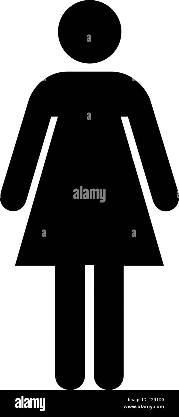Logo delle donne Immagini Stock