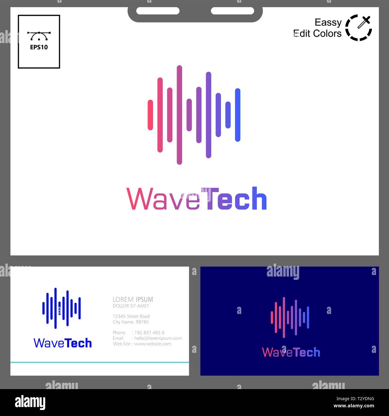 Può essere usato a web business card nome, flayer, app logo etc Immagini Stock