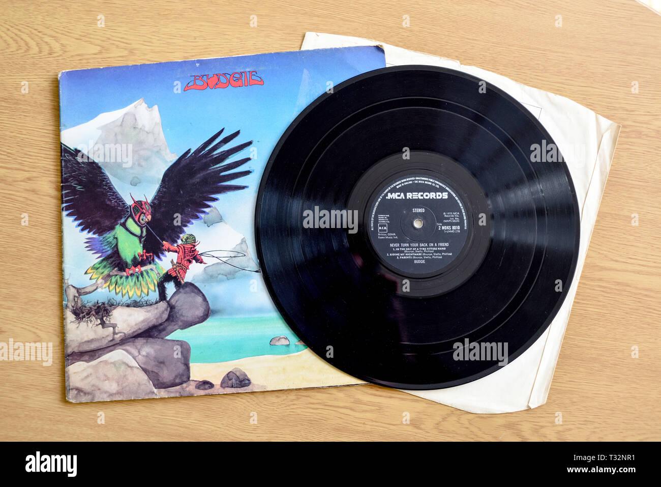 Welch Progressive rock album mai girare la schiena su un amico Foto Stock