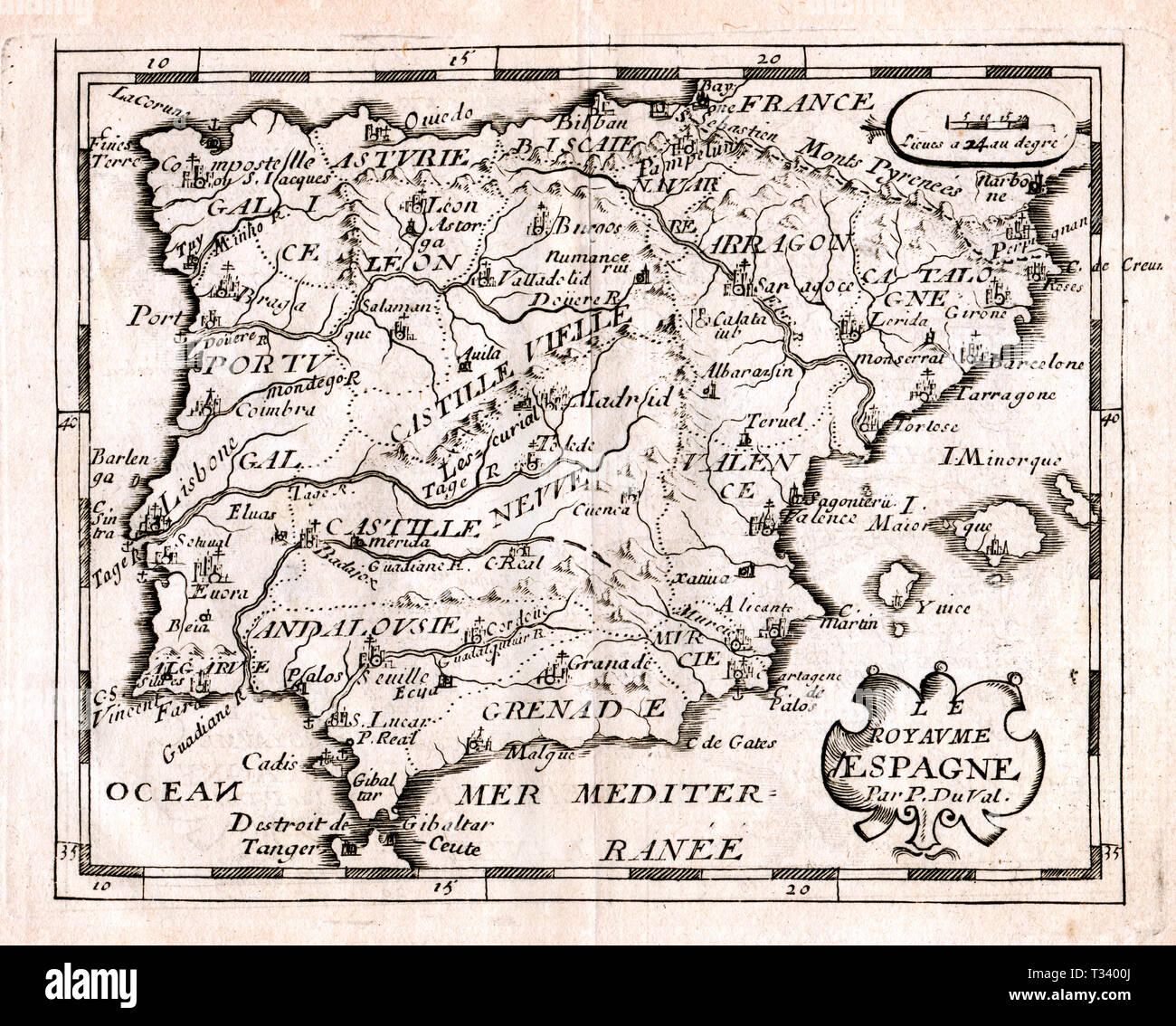 Cartina Spagna Antica.Mappa D Epoca Di Barcellona Immagini E Fotos Stock Alamy