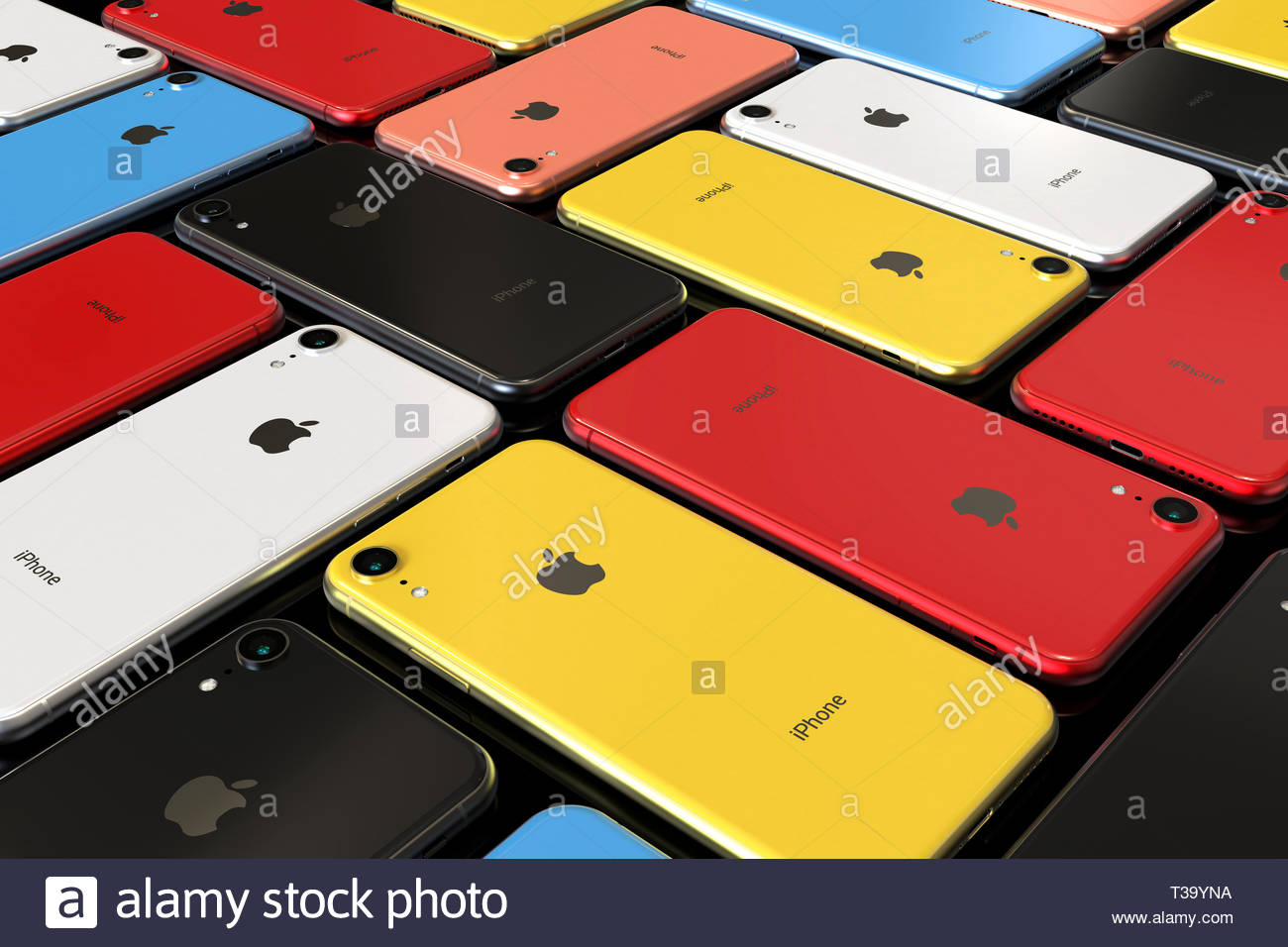 Bucarest Romania Aprile 2019 Apple Iphone Xr Smart Phone Tutti