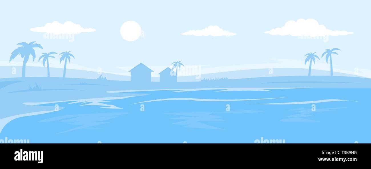 Monocromatico seascape sfondo Immagini Stock