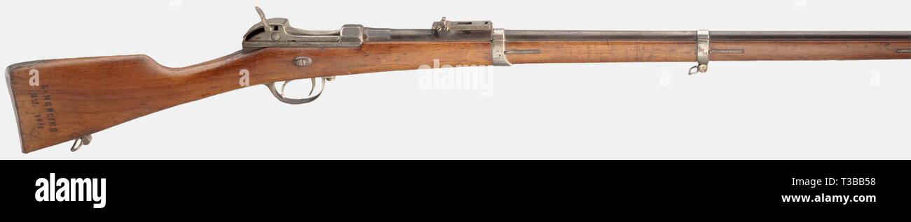 Armi di servizio, Baviera, Werder fucile M 1869, vecchio stile, calibro 11 mm, numero 16540, Additional-Rights-Clearance-Info-Not-Available Immagini Stock