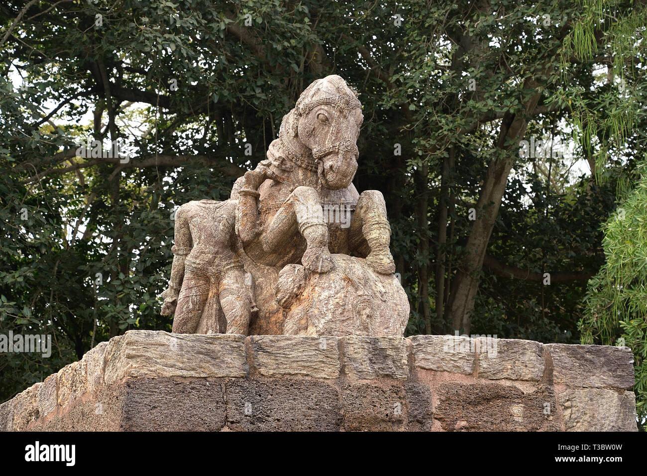 Konark storico tempio di Sun Immagini Stock