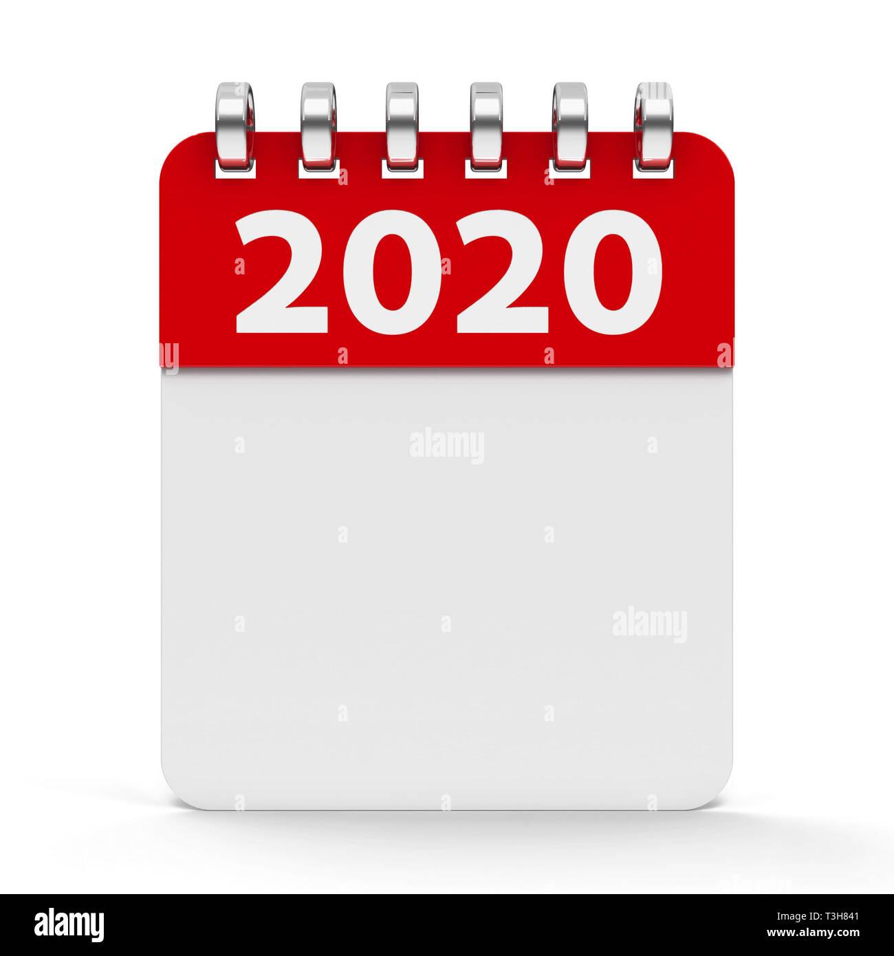 Calendario Saldi 2020.Icona Calendario Con Spirale 2020 Anno Tridimensionale