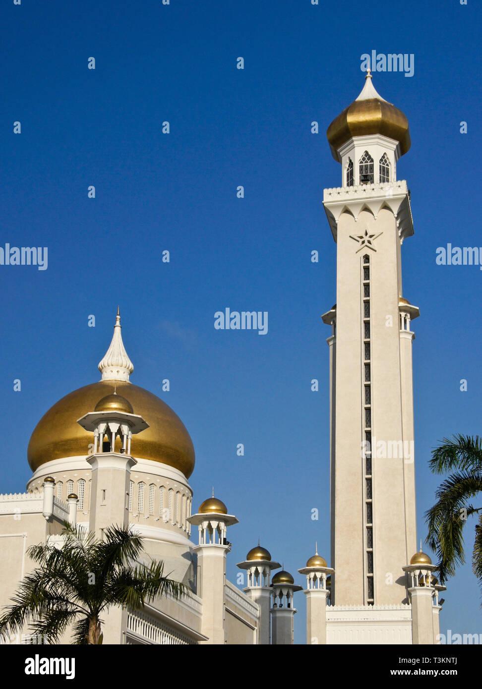 Il sultano Oman Ali Saifuddien moschea, Bandar Seri Begawan, Sultanato del Brunei Immagini Stock